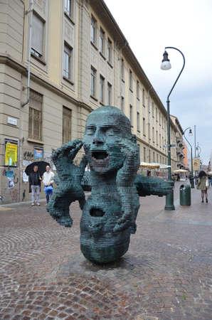 Turin, Italy - modern statue