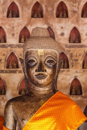 buddha of wat siseket in loas photo