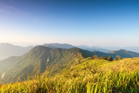 great smokies: mountain with Phuchifa northeast chiangrai thailand Stock Photo