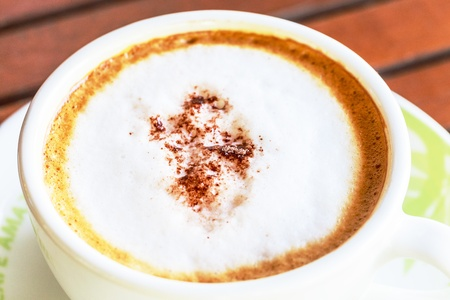 close-up hot cappuccino  photo