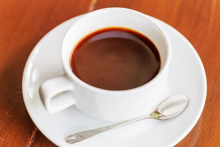 hot black coffee for breaakfast  photo