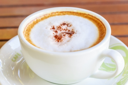 hot coffee in cup  photo
