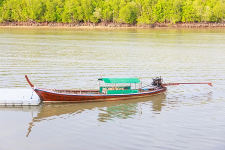 fishing boat for travel of people thailand photo