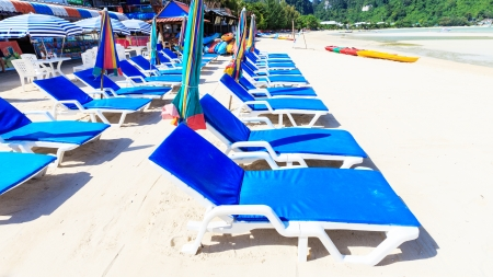 Chair sunbathing at phi phi island photo