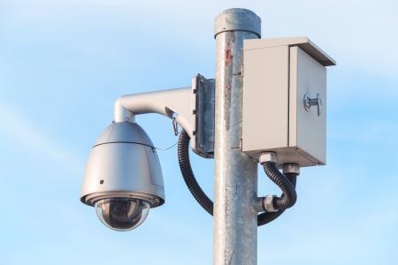 control box: dome cctv camera with control box