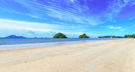 panorama beach nop parathara island krabi thailand photo