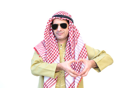 beautiful modern muslim business  young man portrait on white background