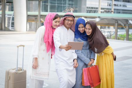 headcloth: arabia group talking about shopping today