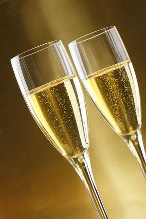 pasas: Copas de champ�n con oro de fondo con nueces, candels y dryed pasas