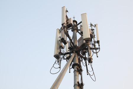 Cellular phone network telecommunication tower Фото со стока - 27573514