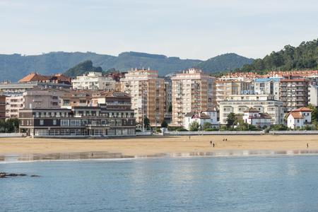 cantabria: Brazomar beach in Castro Urdiales, Cantabria, Spain. Editorial