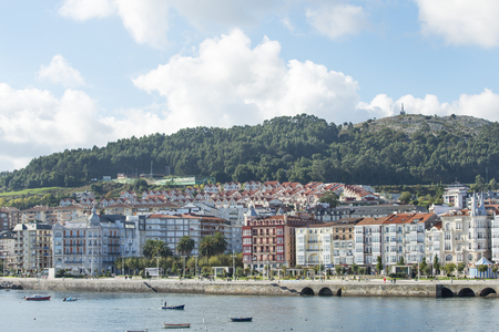 trave: View of Castro Urdiales, Cantabria, Spain.