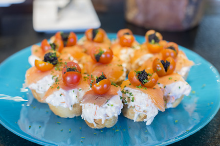 spanish tapas: Spanish tapas, Basque cuisine. Stock Photo