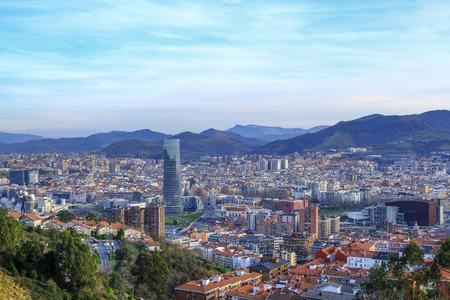 Sunset in Bilbao.