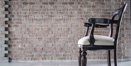 antique chair: Antique chair with Brick Scene