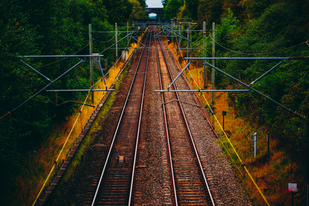 complicated journey: Railway Beautiful Landscape Transportation Concept