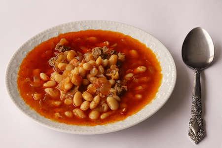Turkish style Meat bean meal. Stok Fotoğraf