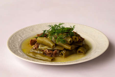 Turkish Foods Olive Oil Dill / Olive Oil Broad Bean / Broad Bean dish.
