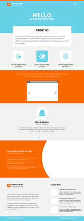 responsive: One Page Online Clinic Website Design idea