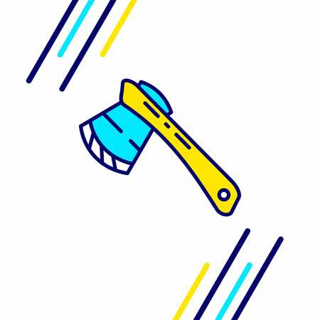 Labour day icon with light background with yellow and blue theme icon - For web design and application interface, also useful for infographics. Vector illustration.