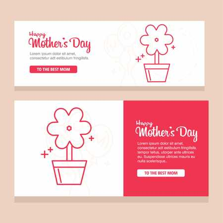 Happy Mothers Day Calligraphy Background - For web design and application interface, also useful for infographics. Vector illustration. Ilustracja