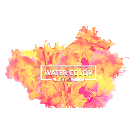 Abstract watercolor splash. Multi-color Watercolor drop on white background. - For web design and application interface, also useful for infographics. Vector illustration.