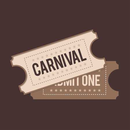 Happy Brazilian Carnival Day. Carnival show tickets on brown background - For web design and application interface, also useful for infographics. Vector illustration. Stock fotó - 104186552