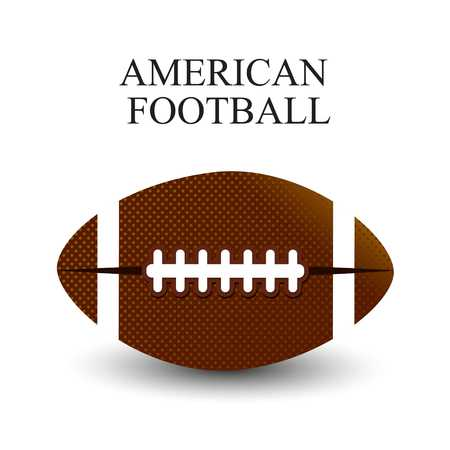 A realistic vector illustration of an American football on a white background. File contains transparencies and gradient mesh. EPS 10. - For web design and application interface, also useful for infographics. Vector illustration.