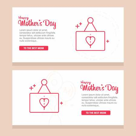 Mother's day greeting card with blossom flowers - For web design and application interface, also useful for infographics. Vector illustration.