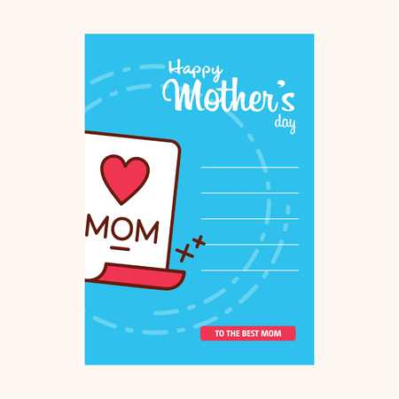 happy mothers day sweet background,greeting card, Flat design. can be add text. - For web design and application interface, also useful for infographics. Vector illustration.