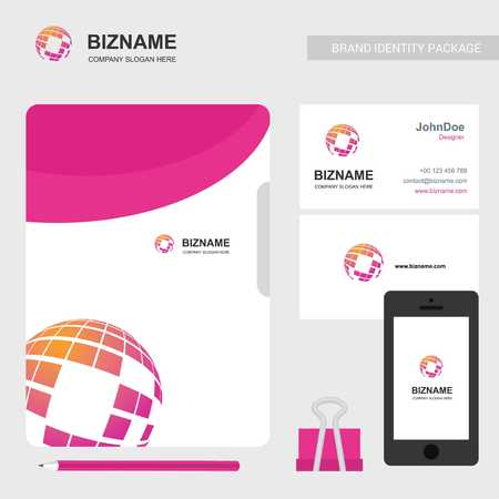 Company brochure with elegent design and also with world map logo - For web design and application interface, also useful for infographics. Vector illustration.