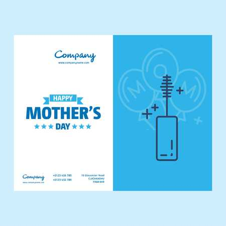 Happy Mothers Day lettering. Handmade calligraphy vector illustration. Mothers day card with heart - For web design and application interface, also useful for infographics. Vector illustration.