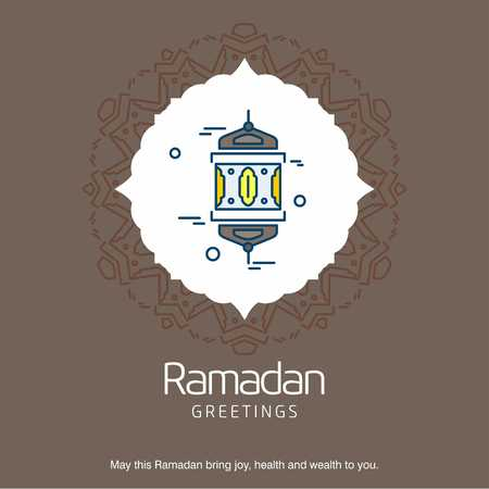 Ramadan Kareem typographic card with creartive design - For web design and application interface, also useful for infographics. Vector illustration.