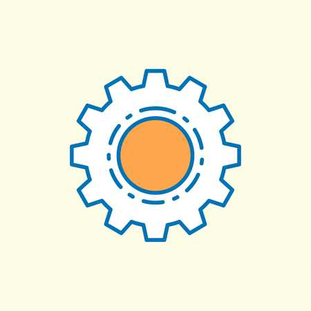 Labour day icon with light background with orange theme icon - For web design and application interface, also useful for infographics. Vector illustration.