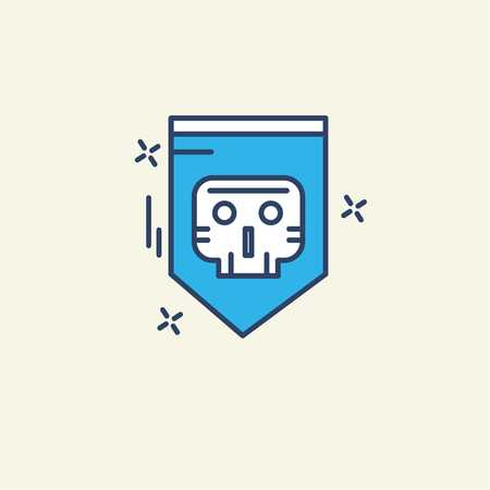Cyber security icon with unique style vector - For web design and application interface, also useful for infographics. Vector illustration.