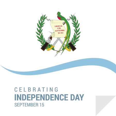 Guatemala Independence Day Patriotic Design. - For web design and application interface, also useful for infographics. Vector illustration. Illusztráció