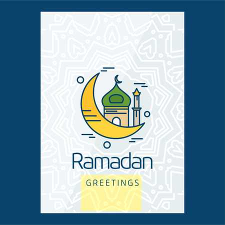 Ramadan typographic design with unique style - For web design and application interface, also useful for infographics. Vector illustration.
