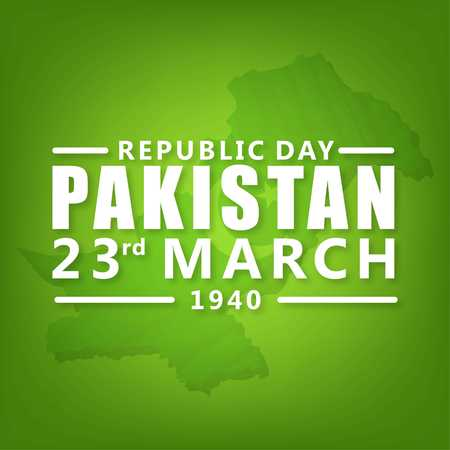 creative vector abstract for Happy Pakistan Day, Vector Template for Pakistan Day, 23rd March. - For web design and application interface, also useful for infographics. Vector illustration.
