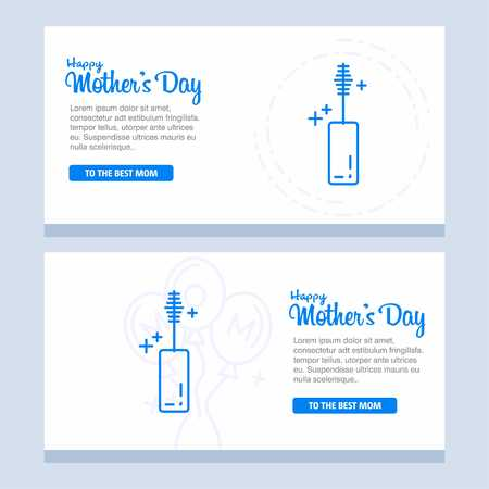 Mothers day greeting card with blossom flowers - For web design and application interface, also useful for infographics. Vector illustration.