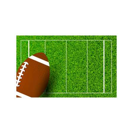 American football Rugby on field of stadium. Vector illustration. - For web design and application interface, also useful for infographics. Vector illustration.