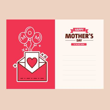 Mothers day sale poster or banner for Mothers day holiday shop seasonal discount offer. Vector International Mothers Day on 13th May design template of pink hearts pattern background - For web design and application interface, also useful for infographics. Vector illustration. Ilustracja
