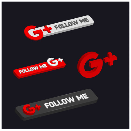 Follow me on Google Plus. For web design and application interface, also useful for infographics. Vector illustration.