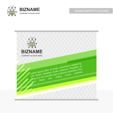 Company Ads banner design with company logo vector. For web design and application interface, also useful for infographics. Vector illustration. Illustration