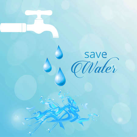 Background of World Water Day. For web design and application interface, also useful for infographics. Vector illustration. Ilustrace