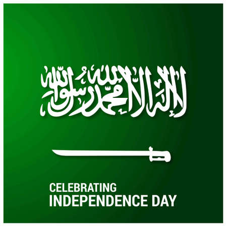 Saudi Arab Independence Day. For web design and application interface, also useful for infographics. Vector illustration.