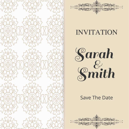 Save the date with calendar in Brown color for wedding. For web design and application interface, also useful for infographics. Vector illustration.
