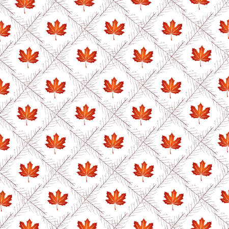vector pattern with autumn leafes, floral background, autmn fall.. For web design and application interface, also useful for infographics. Vector illustration. Vecteurs
