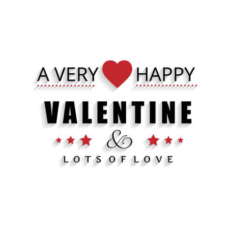 A very happy valentine's day typogrpahic card vector. For web design and application interface, also useful for infographics. Vector illustration. Vectores