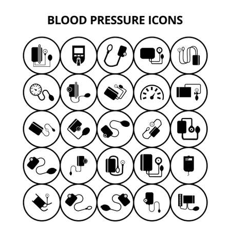 Blood Pressure Icons. For web design and application interface, also useful for infographics. Vector illustration. Illustration