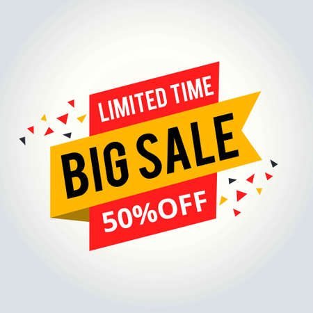 Limited Time sale tag, Big sale tag. For web design and application interface, also useful for infographics. Vector illustration. 免版税图像 - 104511640